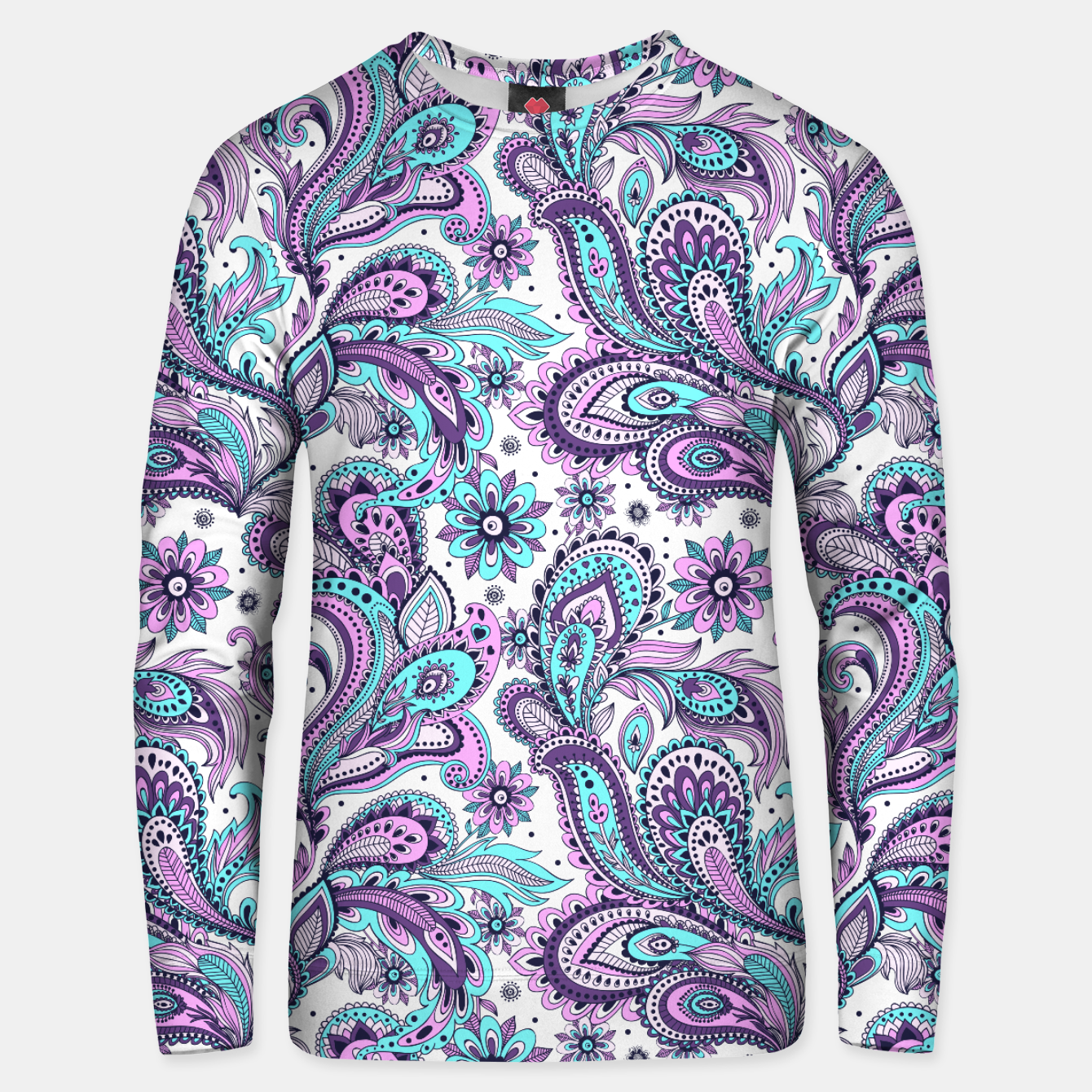 Foto Floral Blue Paisley Unisex sweater - Live Heroes
