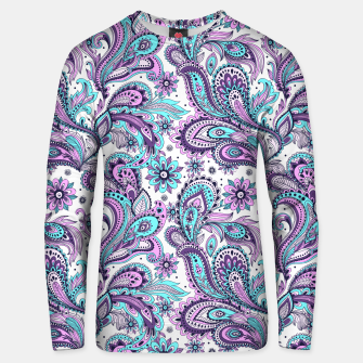 Thumbnail image of Floral Blue Paisley Unisex sweater, Live Heroes