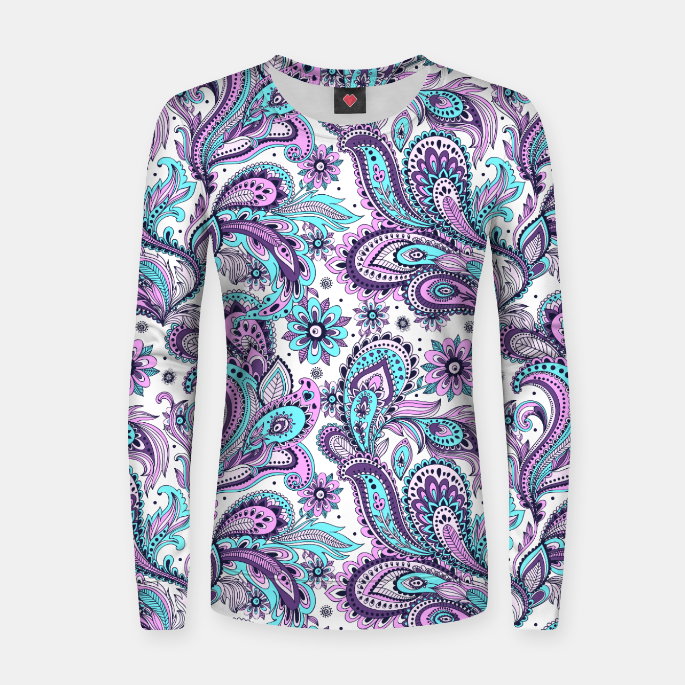 Foto Floral Blue Paisley Women sweater - Live Heroes