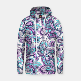 Thumbnail image of Floral Blue Paisley Hoodie, Live Heroes