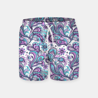 Thumbnail image of Floral Blue Paisley Swim Shorts, Live Heroes