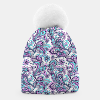 Thumbnail image of Floral Blue Paisley Beanie, Live Heroes