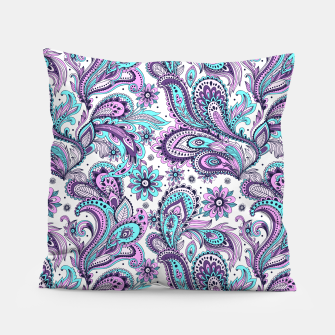 Thumbnail image of Floral Blue Paisley Pillow, Live Heroes