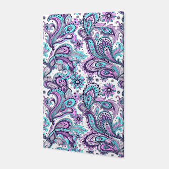 Thumbnail image of Floral Blue Paisley Canvas, Live Heroes