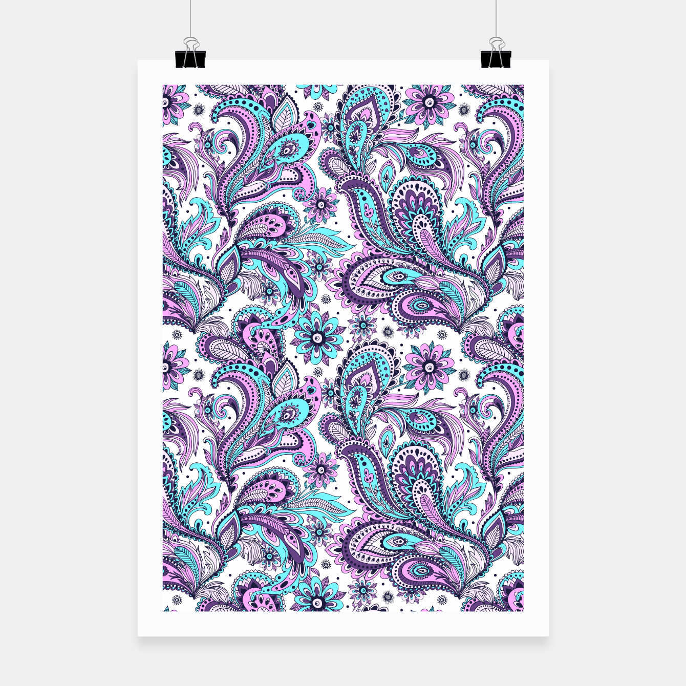 Foto Floral Blue Paisley Poster - Live Heroes