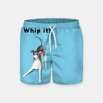 Miniature de image de Whip it! (Light Blue) Swim Shorts, Live Heroes