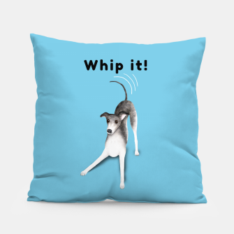 Miniature de image de Whip it! (Light Blue) Pillow, Live Heroes