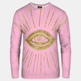 Evil Eye Gold on Pink #1 #drawing #decor #art  Unisex sweatshirt miniature