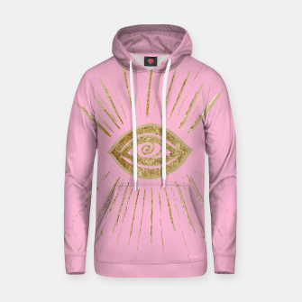 Evil Eye Gold on Pink #1 #drawing #decor #art  Kapuzenpullover miniature