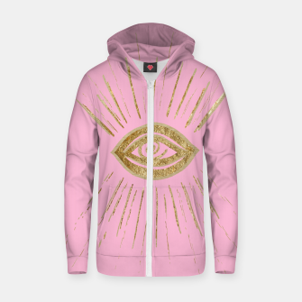 Evil Eye Gold on Pink #1 #drawing #decor #art  Reißverschluss kapuzenpullover miniature