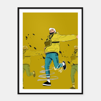Miniatur CHRIS BROWN Framed poster, Live Heroes