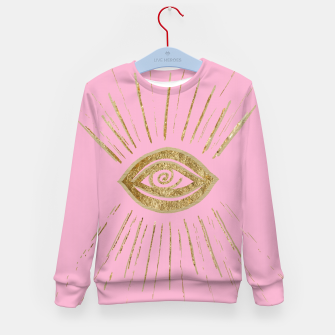 Evil Eye Gold on Pink #1 #drawing #decor #art  Kindersweatshirt miniature