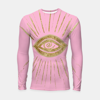 Evil Eye Gold on Pink #1 #drawing #decor #art  Longsleeve rashguard miniature