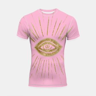 Evil Eye Gold on Pink #1 #drawing #decor #art  Shortsleeve rashguard miniature