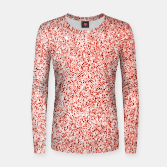 Thumbnail image of Living coral light glitter Sparkles Women sweater, Live Heroes