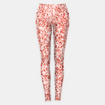 Thumbnail image of Living coral light glitter Sparkles Leggings, Live Heroes