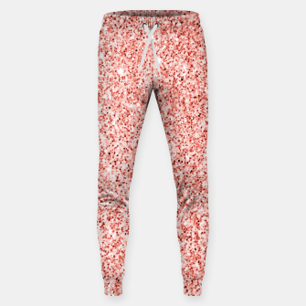 Thumbnail image of Living coral light glitter Sparkles Sweatpants, Live Heroes