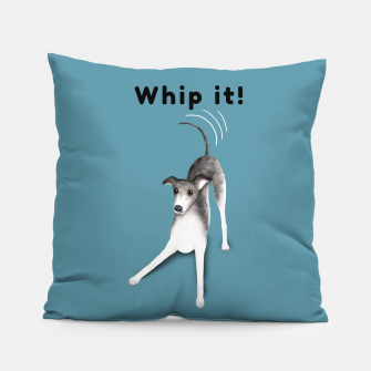 Miniature de image de Whip it! (Blue-Grey) Pillow, Live Heroes