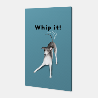 Whip it! (Blue-Grey) Canvas miniature