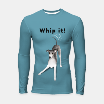 Whip it! (Blue-Grey) Longsleeve rashguard  miniature