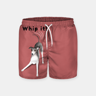 Miniature de image de Whip it! (Blush Red) Swim Shorts, Live Heroes