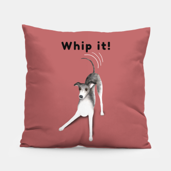 Thumbnail image of Whip it! (Blush Red) Pillow, Live Heroes