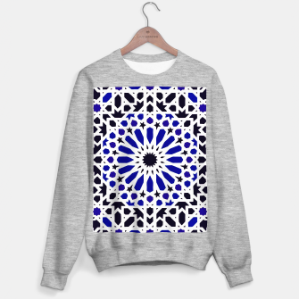 Miniature de image de Epic Original Blue Moroccan Geometric Artwork. Sweater regular, Live Heroes