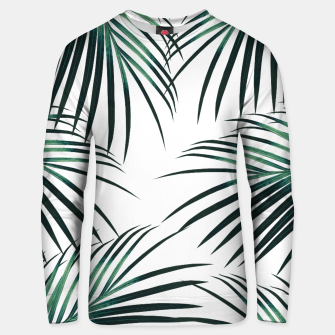 Green Palm Leaves Dream #3 #tropical #decor #art  Unisex sweatshirt obraz miniatury