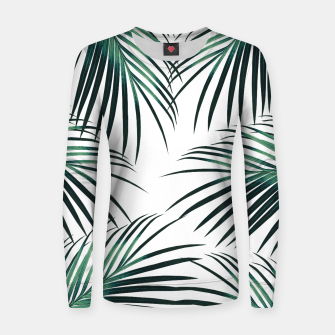 Green Palm Leaves Dream #3 #tropical #decor #art  Frauen sweatshirt obraz miniatury