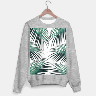 Green Palm Leaves Dream #3 #tropical #decor #art  Sweatshirt regulär obraz miniatury