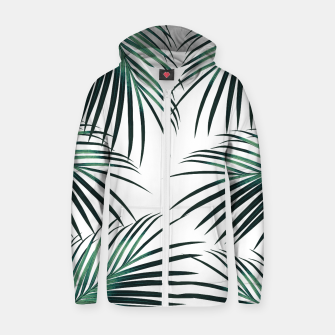Green Palm Leaves Dream #3 #tropical #decor #art  Reißverschluss kapuzenpullover obraz miniatury