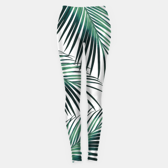 Green Palm Leaves Dream #3 #tropical #decor #art  Leggings obraz miniatury