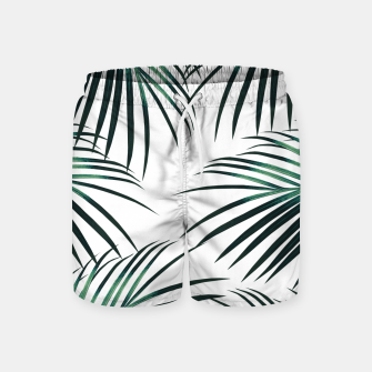 Green Palm Leaves Dream #3 #tropical #decor #art  Badeshorts obraz miniatury