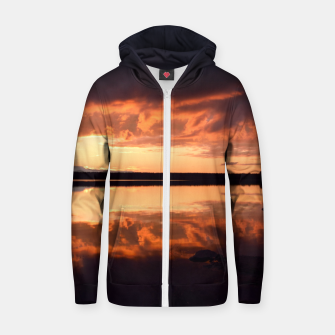 Thumbnail image of Sunset reflections Zip up hoodie, Live Heroes