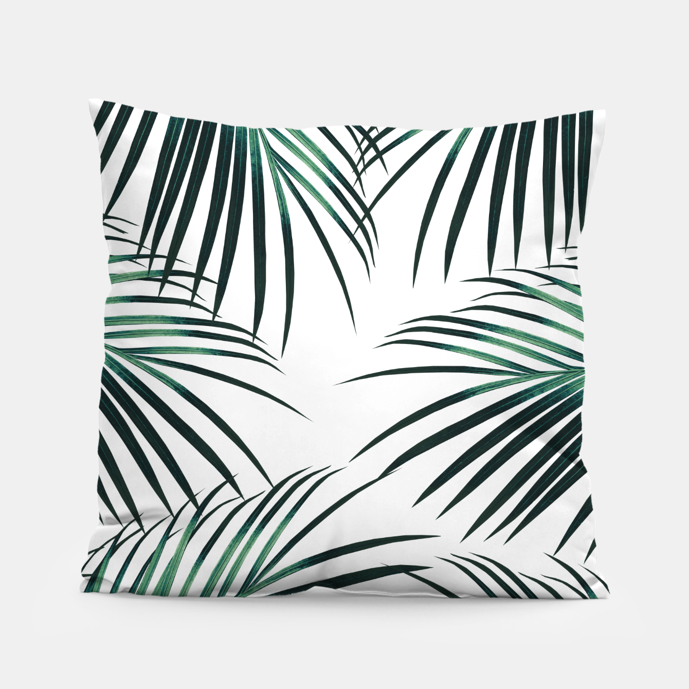 Zdjęcie Green Palm Leaves Dream #3 #tropical #decor #art  Kissen - Live Heroes