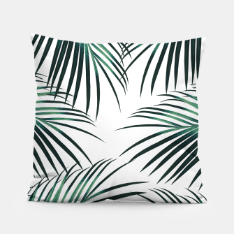 Green Palm Leaves Dream #3 #tropical #decor #art  Kissen miniature