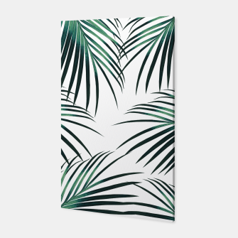 Green Palm Leaves Dream #3 #tropical #decor #art  Canvas miniature