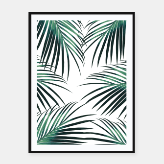 Green Palm Leaves Dream #3 #tropical #decor #art  Plakat mit rahmen miniature