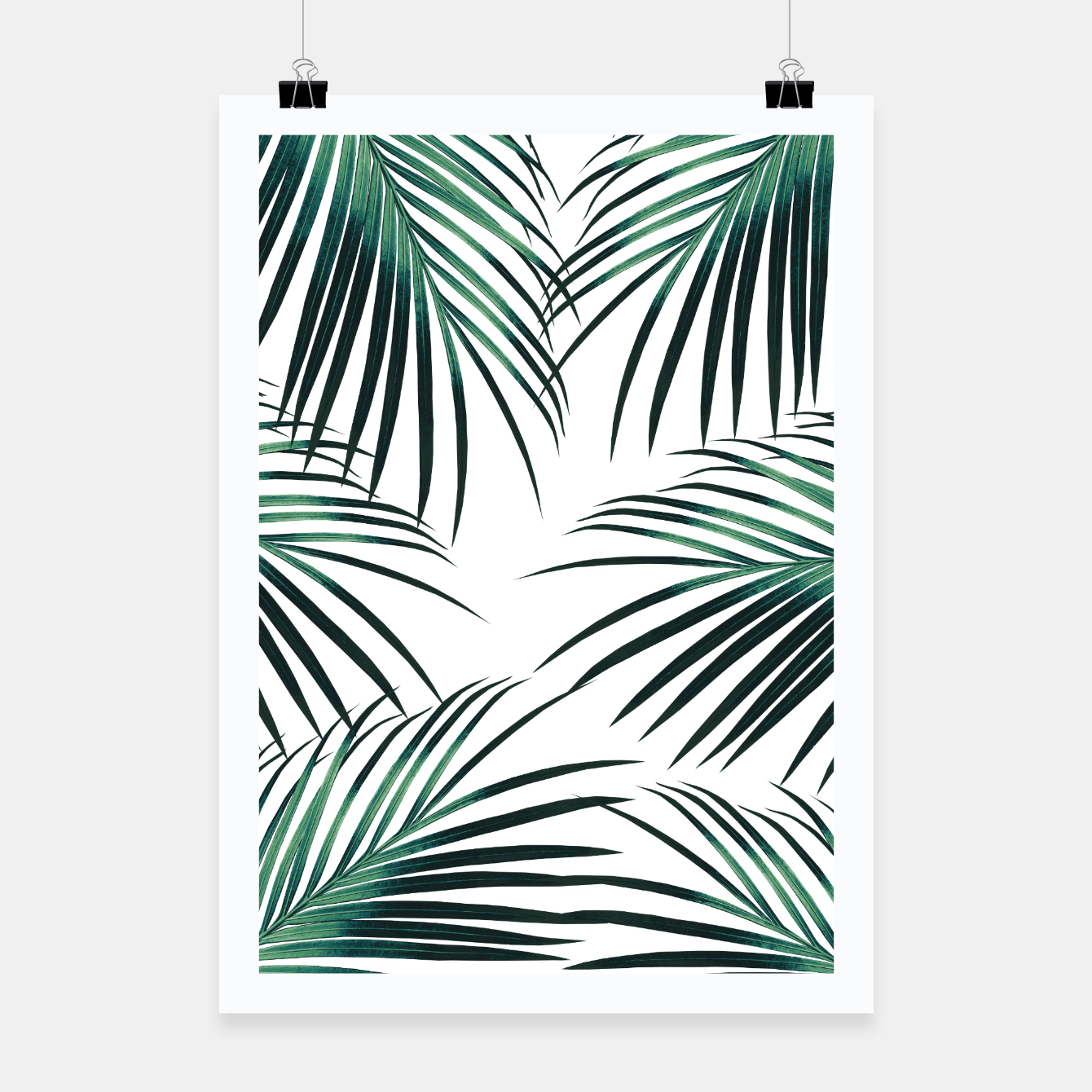 Zdjęcie Green Palm Leaves Dream #3 #tropical #decor #art  Plakat - Live Heroes