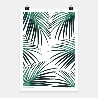 Green Palm Leaves Dream #3 #tropical #decor #art  Plakat miniature