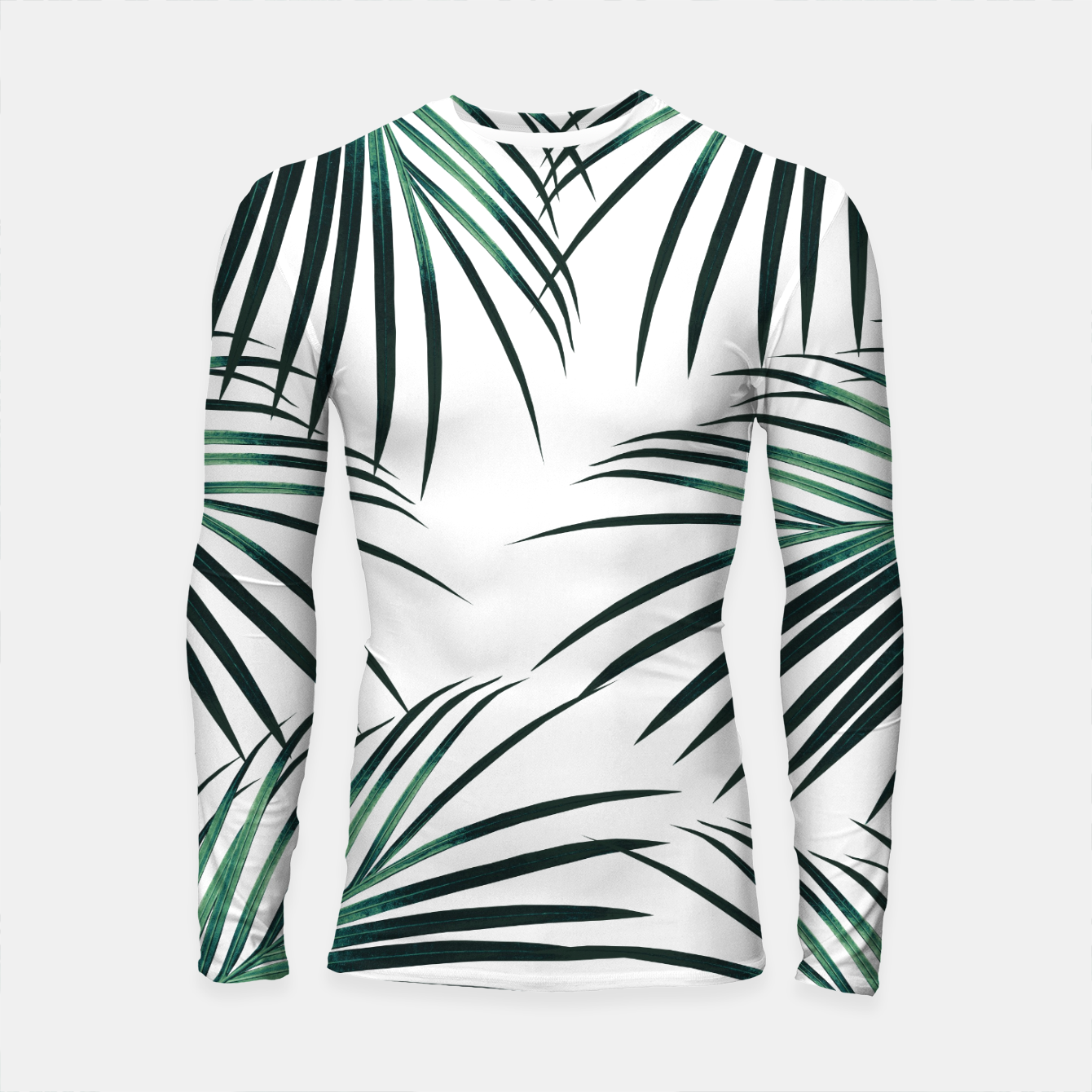 Zdjęcie Green Palm Leaves Dream #3 #tropical #decor #art  Longsleeve rashguard - Live Heroes