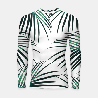 Green Palm Leaves Dream #3 #tropical #decor #art  Longsleeve rashguard obraz miniatury