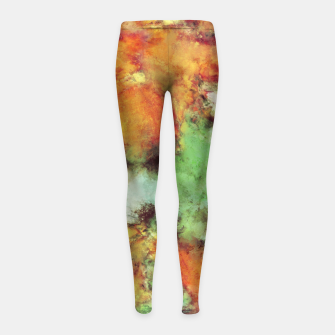Big cloud collider Girl's leggings Bild der Miniatur