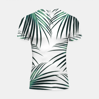 Green Palm Leaves Dream #3 #tropical #decor #art  Shortsleeve rashguard obraz miniatury