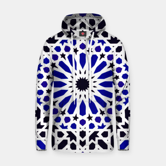 Thumbnail image of Epic Original Blue Moroccan Geometric Artwork. Hoodie, Live Heroes