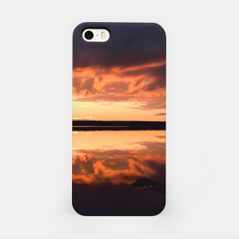 Thumbnail image of Sunset reflections iPhone Case, Live Heroes