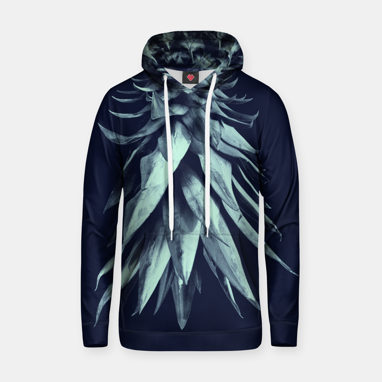 Zdjęcie Navy Blue Pineapple Upside Down #1 #tropical #fruit #decor #art Kapuzenpullover - Live Heroes