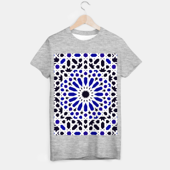 Miniatur Epic Original Blue Moroccan Geometric Artwork. T-shirt regular, Live Heroes