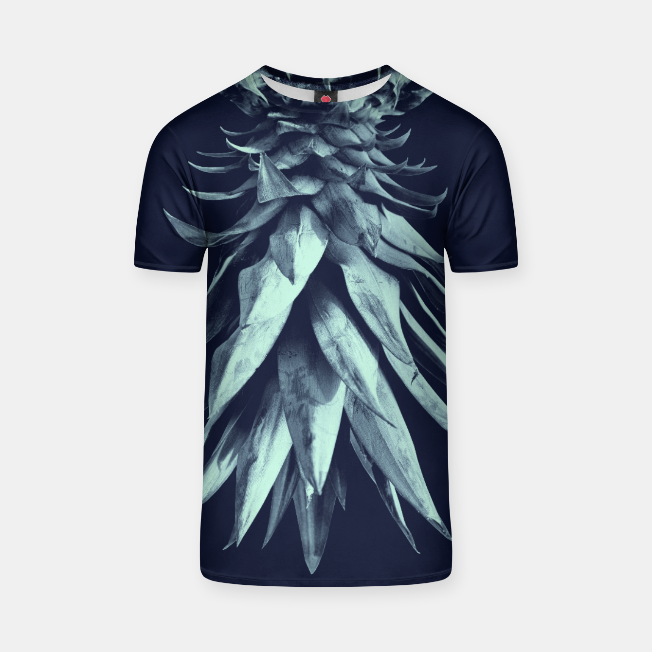 Image de Navy Blue Pineapple Upside Down #1 #tropical #fruit #decor #art T-Shirt - Live Heroes