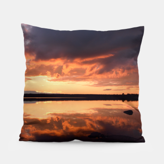 Thumbnail image of Sunset reflections Pillow, Live Heroes